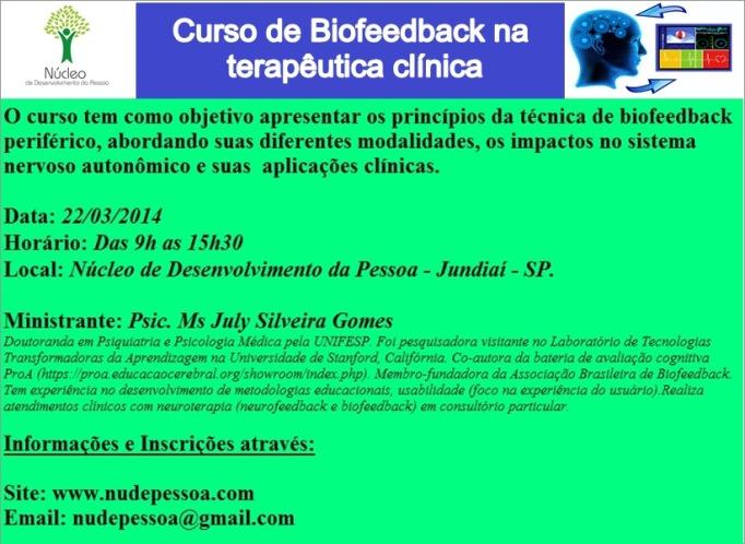 Banner curso biofeedback Jundiaí
